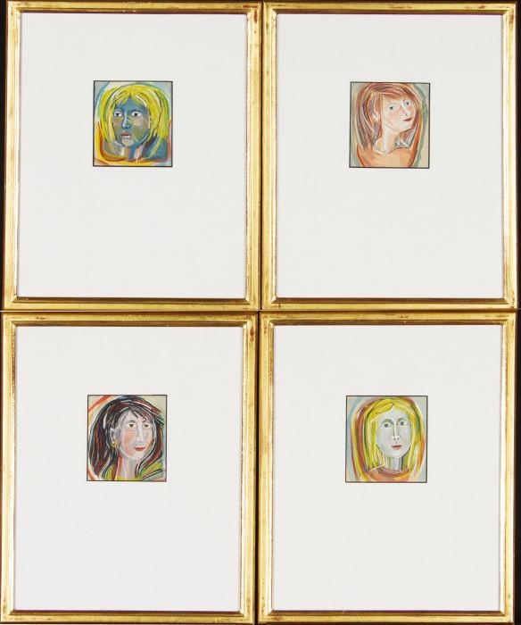 4 Female Portraits by Brigid Wright