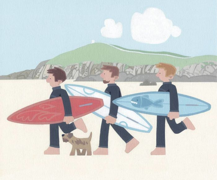The Boys, Fistral Beach by Sasha Harding