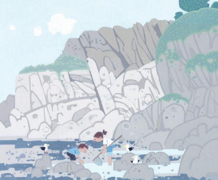 Rock Pooling, Lee Bay by Sasha Harding