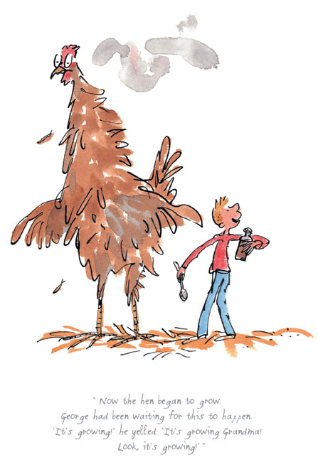 The hen began to grow by Sir Quentin Blake