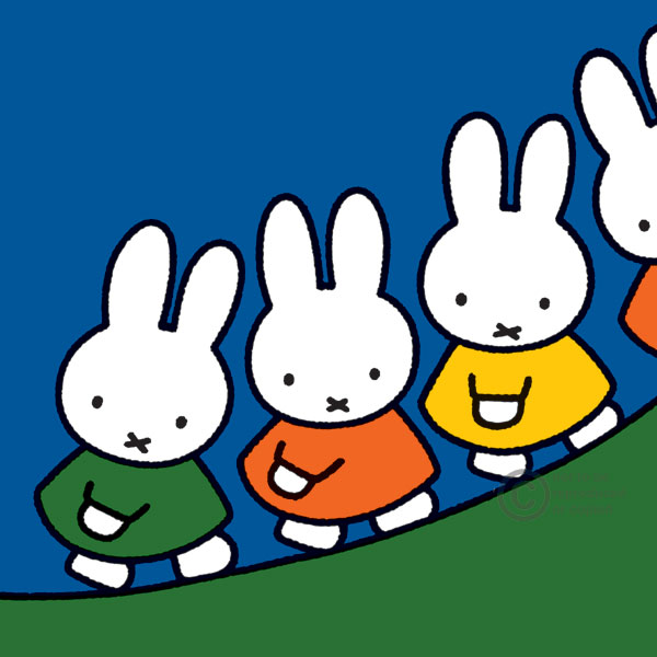 Walking up a Hill by Dick Bruna