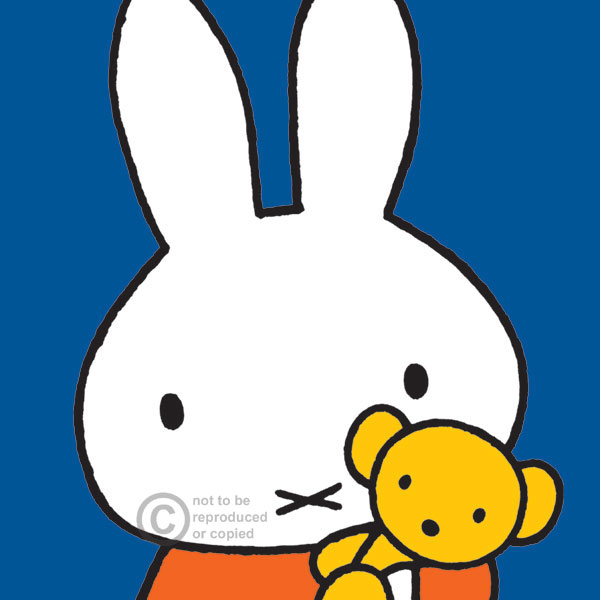 Miffy with her teddy by Dick Bruna