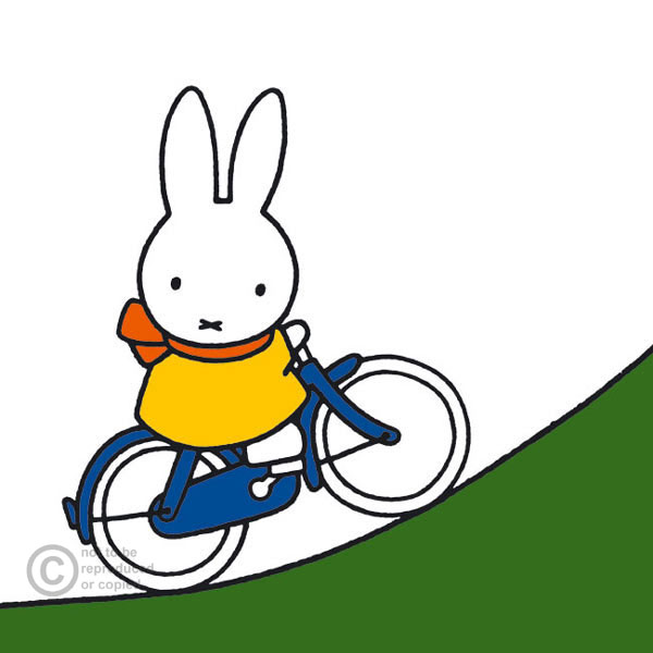 Miffy on Bike by Dick Bruna