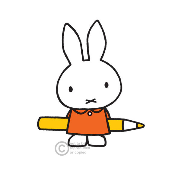 Miffy with Pencil by Dick Bruna