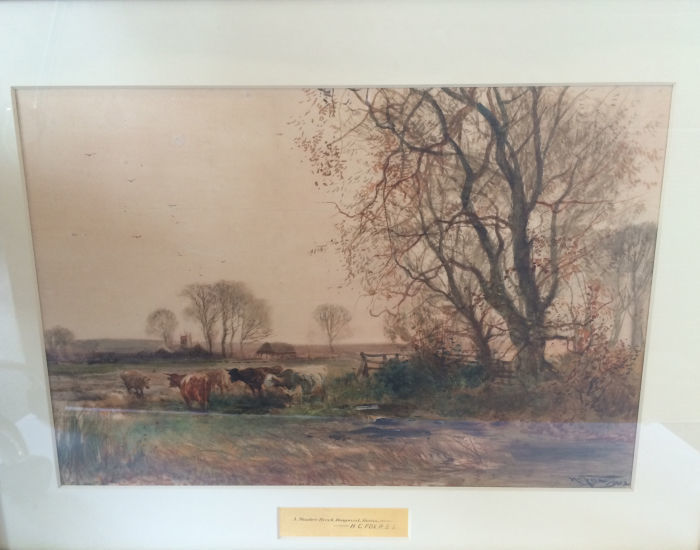 A Meadow Brook Hampshire 1902 by Henry Charles Fox (HC Fox)