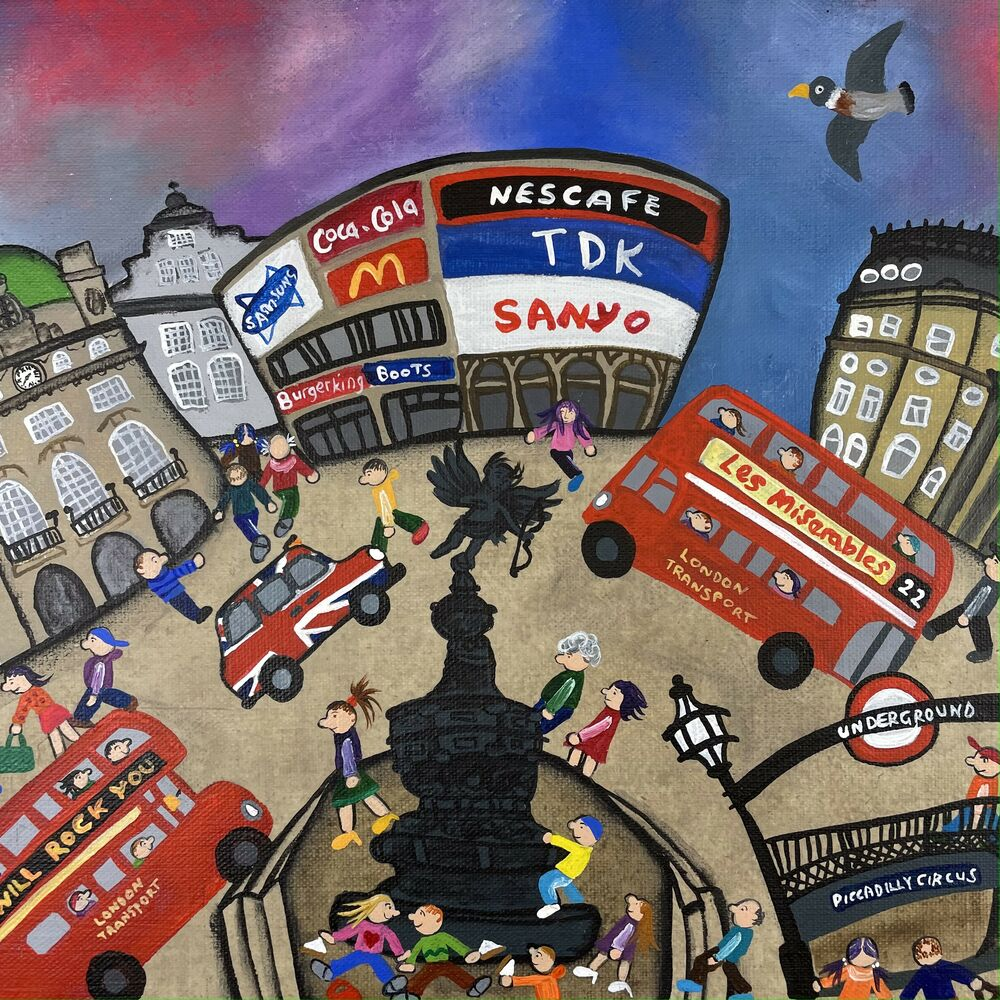 Welcome Sandwiches (Piccadilly Circus) by Caroline Appleyard