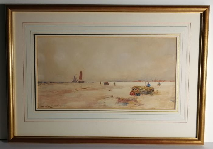 Beach with Grounded Boats by Thomas Bush Hardy