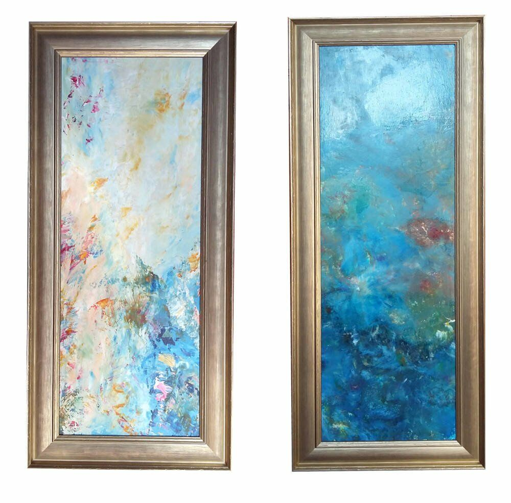 Abstract painting paintings framed
