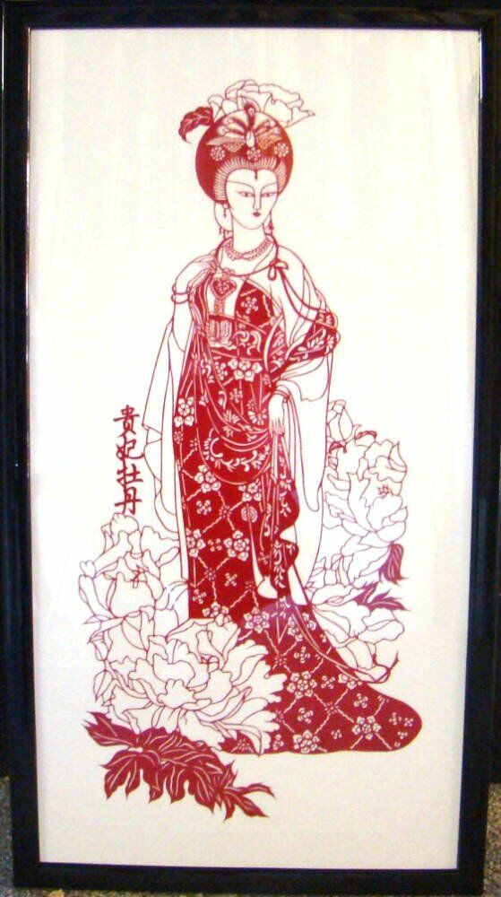 Acid free mount Chinese artwork paper cut outs Asian artwork - Delicate Chinese paper cut out artwork