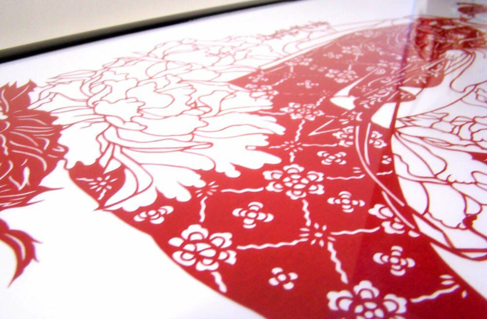Asian artwork paper cut outs Chinese artwork - Anything Framed