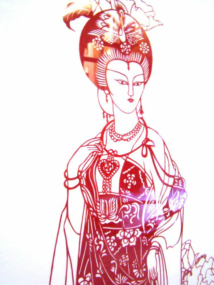 Acid free mount Chinese artwork paper cut outs - Delicate Chinese paper cut out artwork