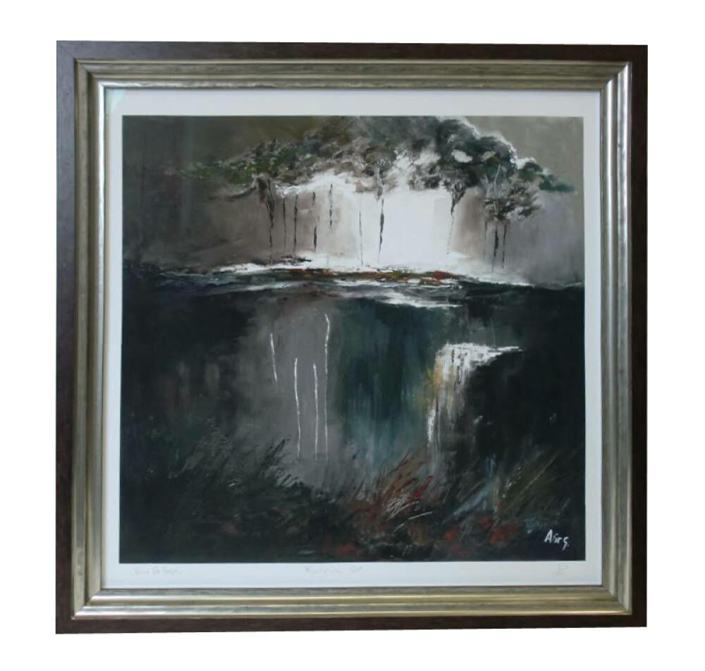 Dramatic Storm print - signed edition framed dramatic artwork Larson Jhul frame bespoke framing