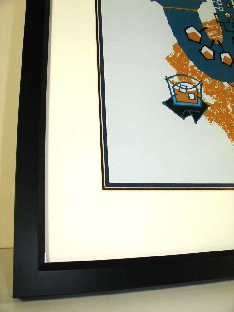 Modern black frame  - Guy Burwell framing