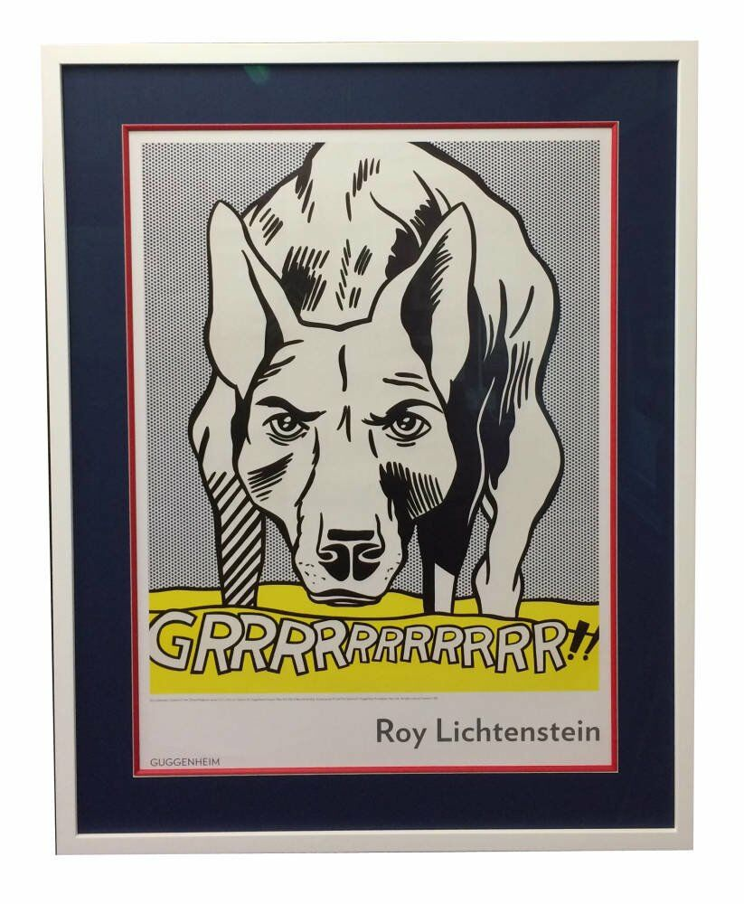 Pop art framing red slip  - Lichtenstein print framed