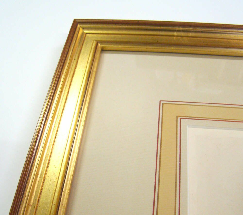 Framing examples gold leaf frame mount washlines