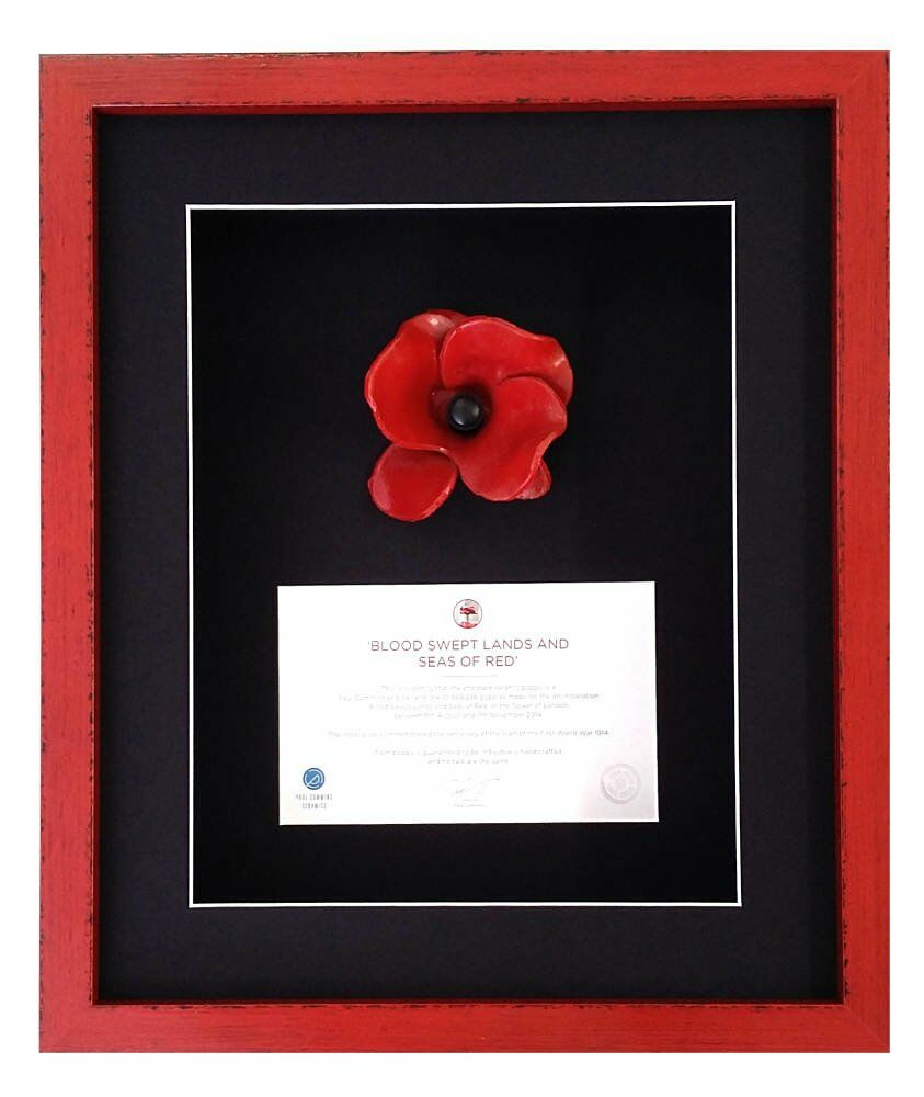 Ceramic framing photo ww1 soldiers fields of red chesterfield ceramic - Paul Cummins Ceramic Poppy Framing