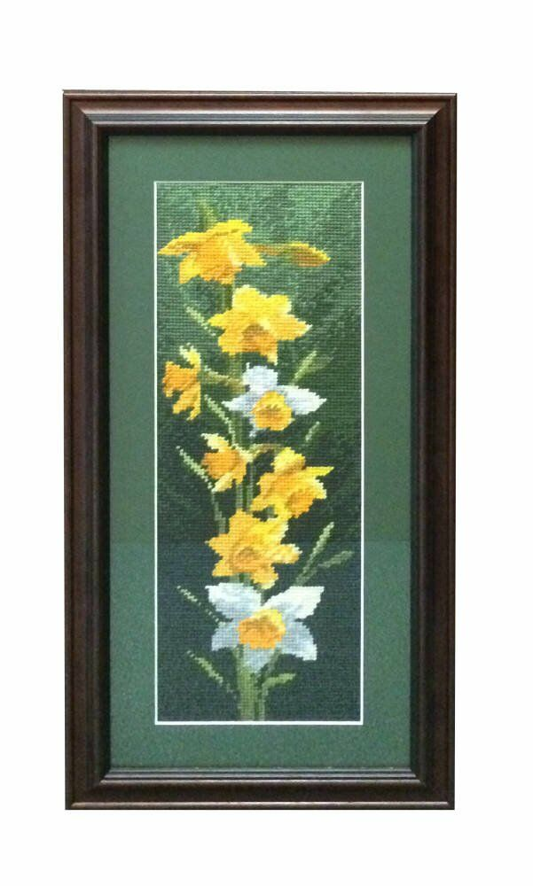 Cross stitch framing - wooden frame