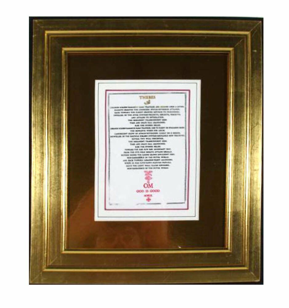 Double Sided Framing - gold foil picture mount