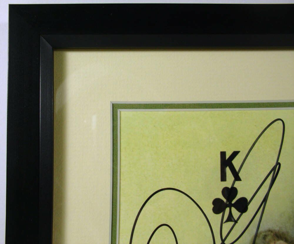 Double mounted frames with cream and green mounts