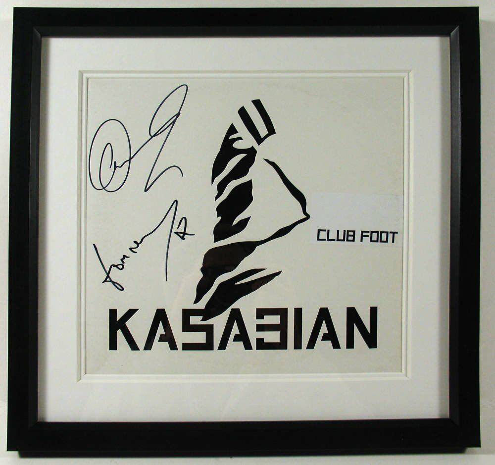 Framed memorabilia autographed collectables - signed kasabian merch