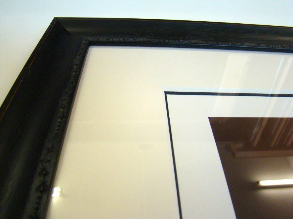 Double mount italian frame - larson juhl marais Jeremy Geddes artwork - A perfect Vacuum