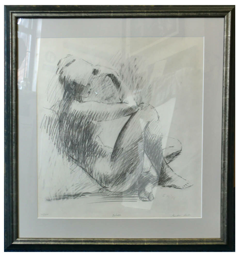 Limited edition framing nude charcoal framing ideas - Limited edition nude sketch