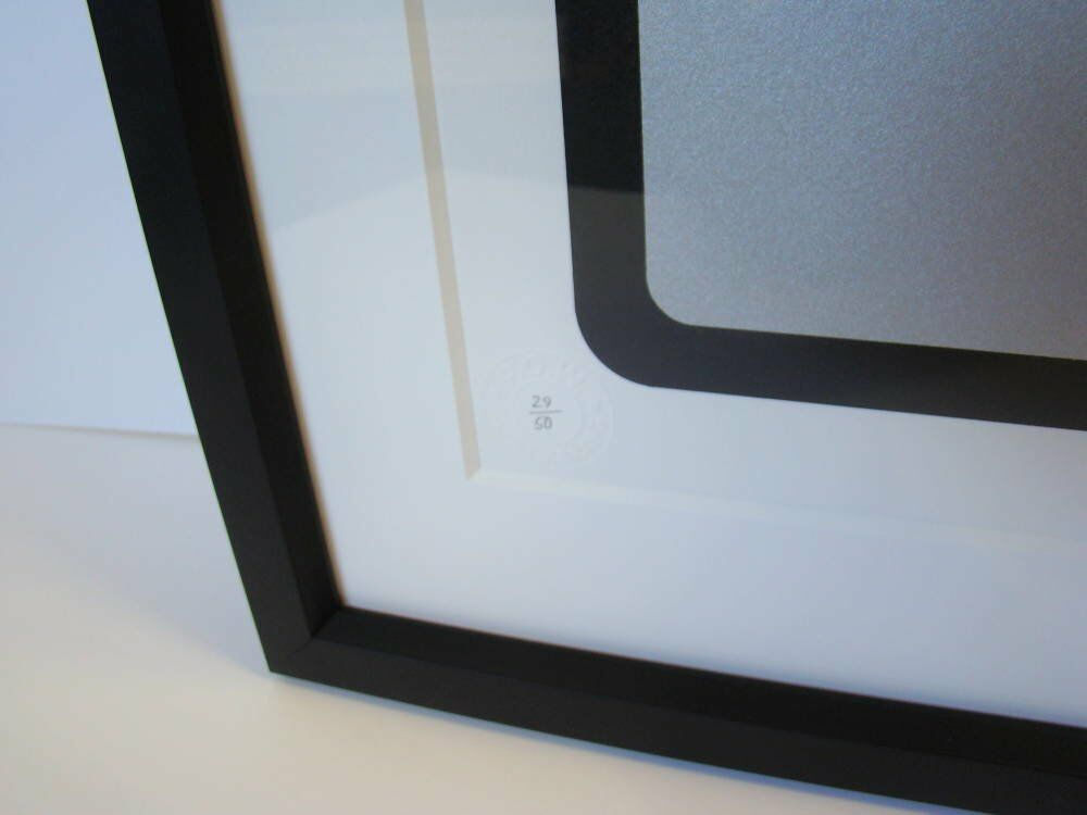 Modern black frame  - Space Invader print framed