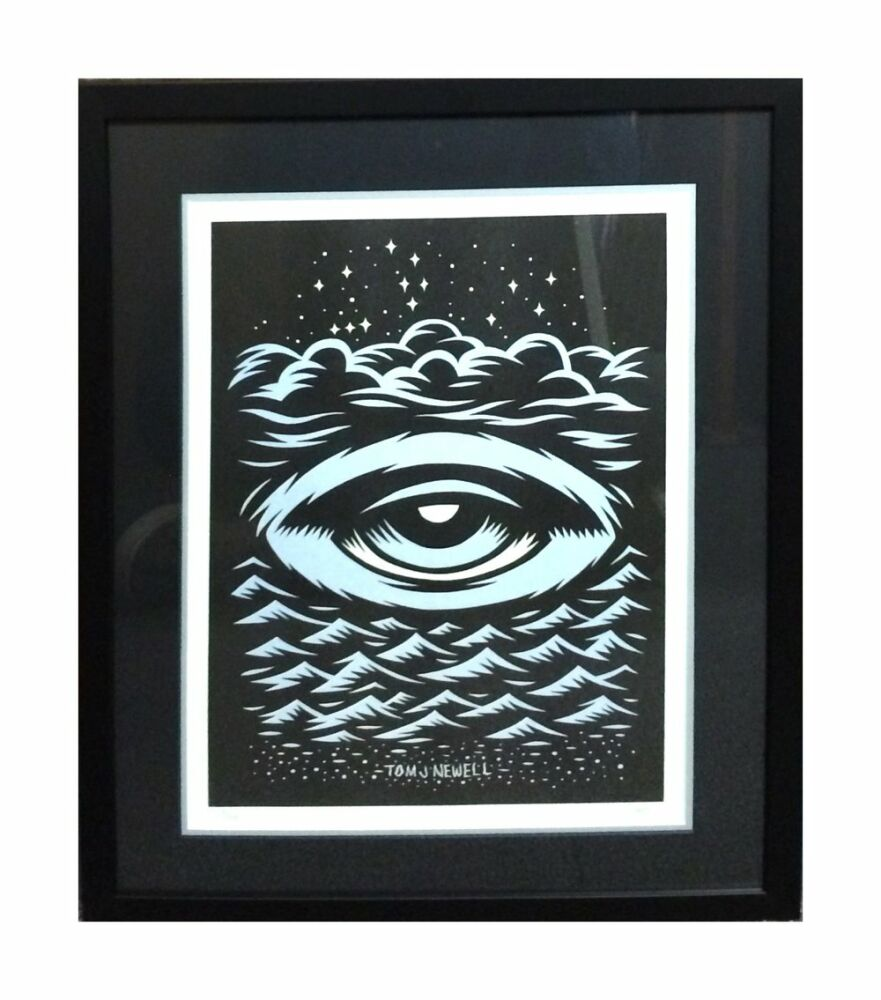 Limited Edition Framing - illustrator black matte frame