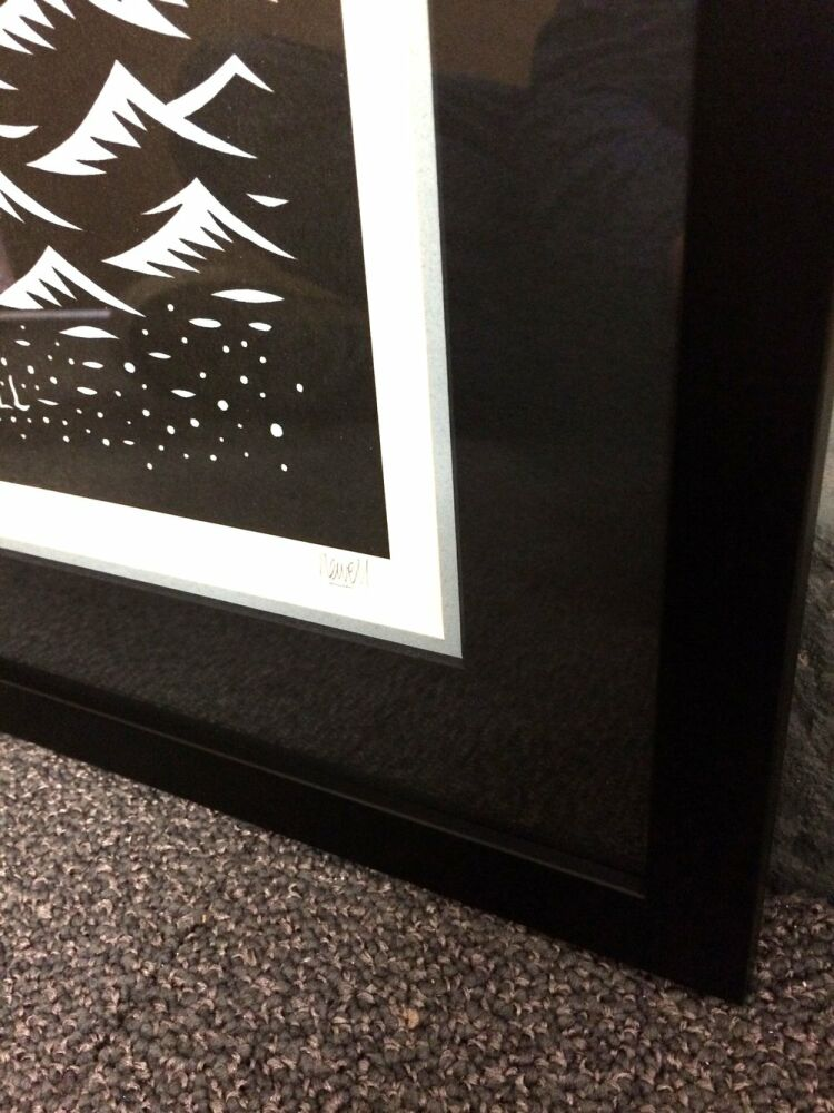 Limited Edition Framing - limited edition framed framed Tom J Newell illustrations framed low reflective glass