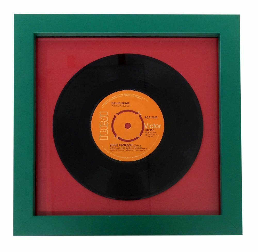 LP and record framing - handstitched framing conservation standards ziggy stardust records framed