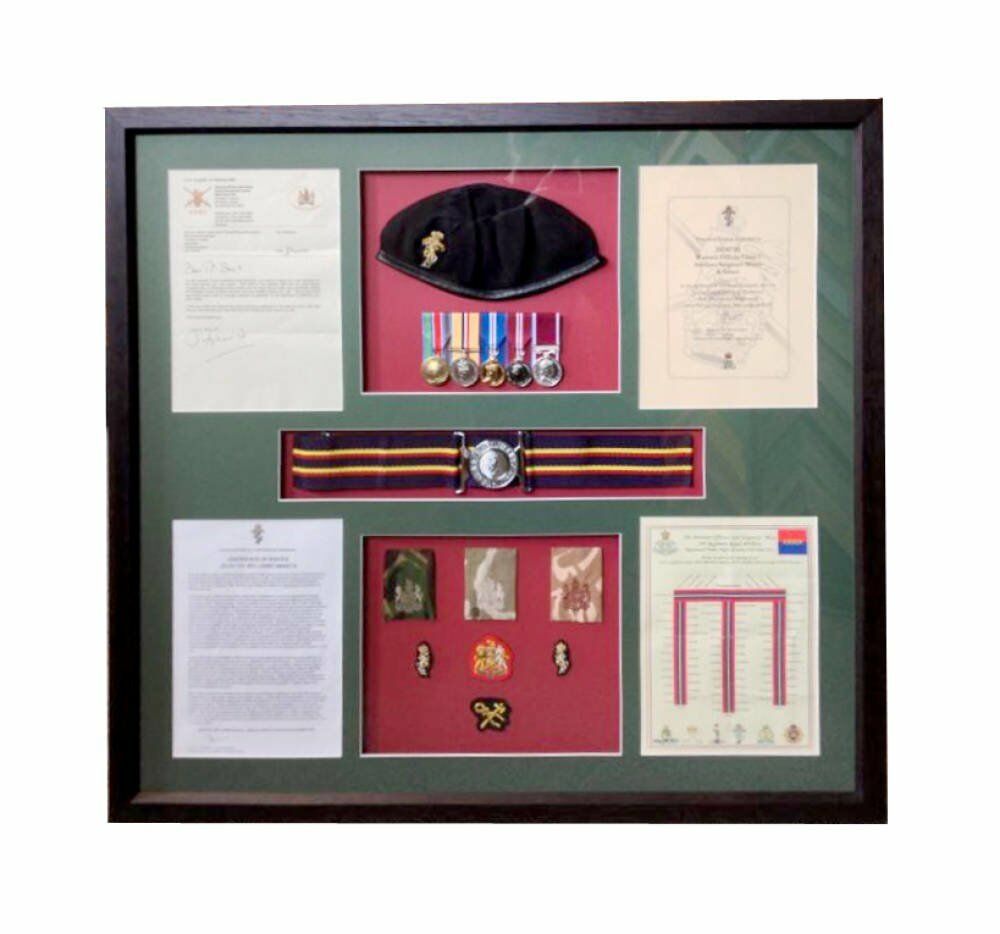 Medal Framing - uniform framed
