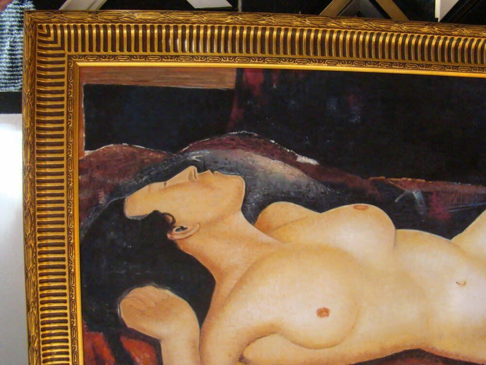 Modigliani reproduction oil painting framed reproduction modigliani - Modigliani Reproduction Oil Painting on Canvas