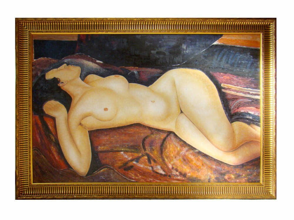 Oil painting framed reproduction modigliani - Oil Painting Framing