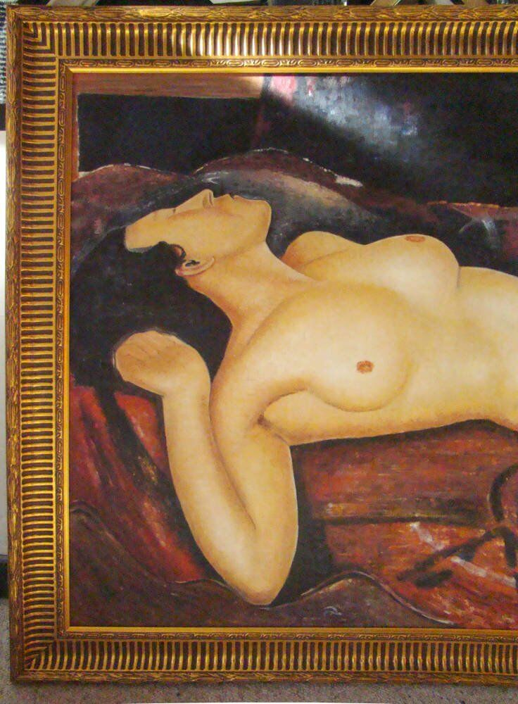 Modigliani Reproduction Oil Painting on Canvas - nude female portrait reproduction modigliani oil painting framed modigliani reproduction