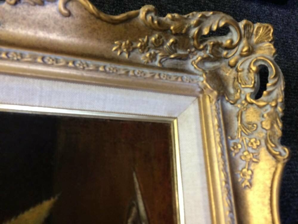 Ageing frames pineapple still life authentic aged frames - Bespoke swept frame
