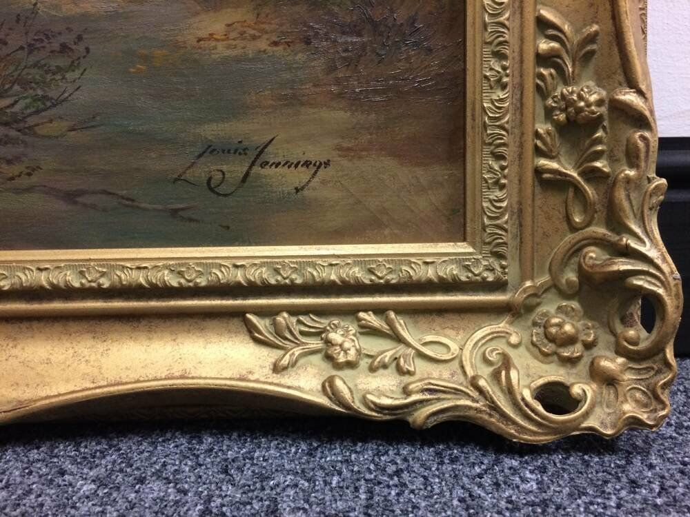 Landscape painting framed - Louis Jennings - Ryecroft