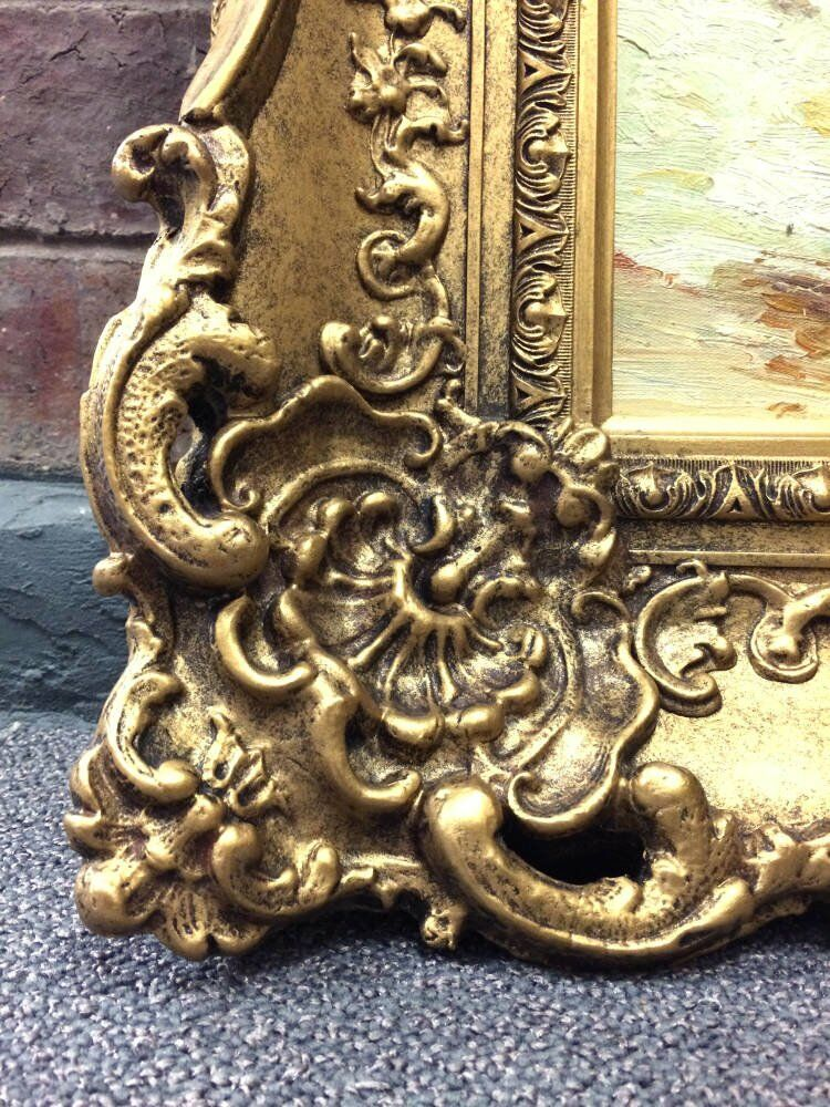 Ornate picture framing - small oil paintings