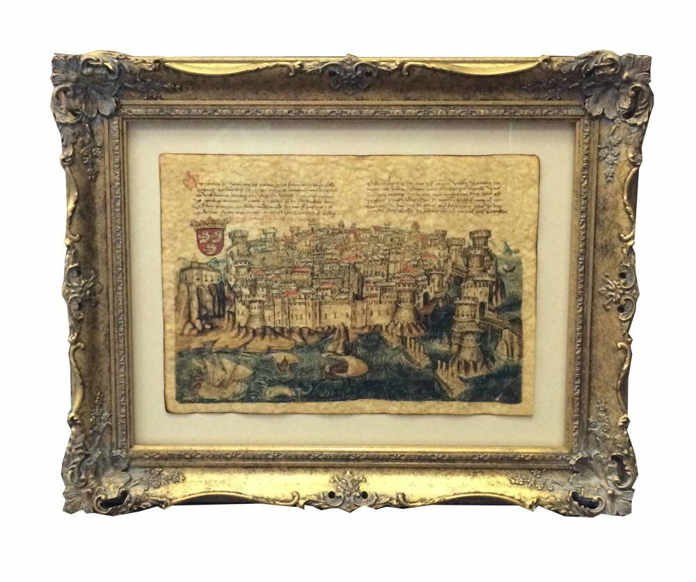 Traditional English frames Waxed paper float mounted