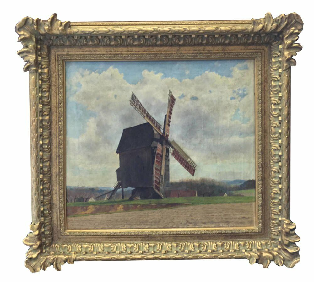 traditional English frames - Windmill painting framed