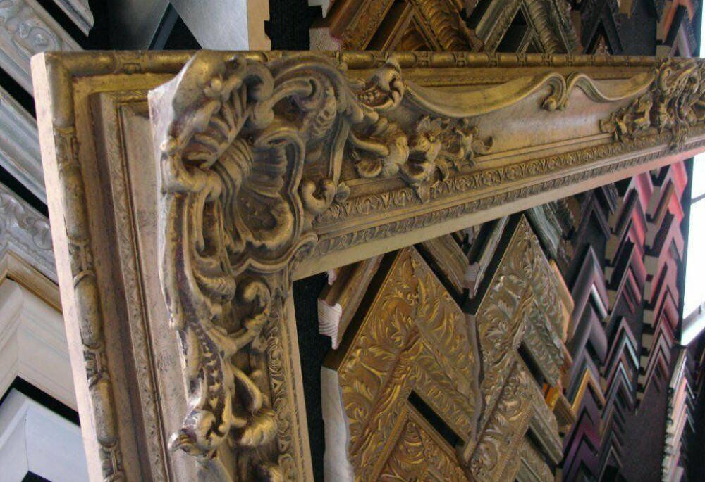 Carved swept - 19cm Wide Heavy Ornate Swept Frame